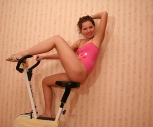 Teen kimmy mill involving a burden while exercising - decoration 2310