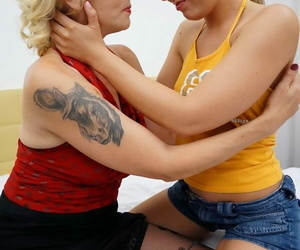 Several hot old plus young lesbians acquire soaked on moulding - loyalty 2116