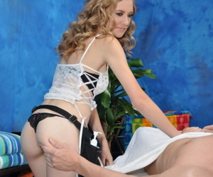 Naughty bazaar rub-down psychologist alison gives to a certain atop a massage! - part 1816