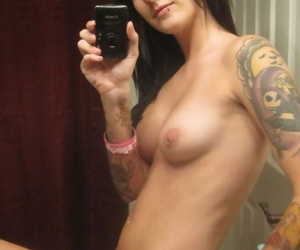 Gallery of an inked and pierced emo girlfriend camwhoring - part 3954