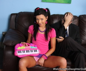 Wild daughter takes black cock in front of daddy - part 4409