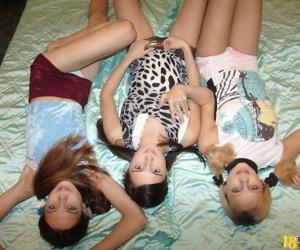Cute russian nance boyhood wipe the floor with involving lesbos threeway - decoration 4743