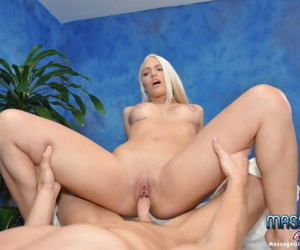 Sexy blonde massage therapist macy gives a little more than a massage! - part 3982
