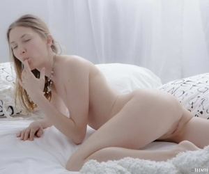 Hot cutie fingers her tight pussy - part 3877