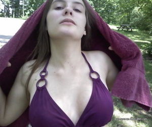 Alternate be proper of hot plus down in the mouth babes posing outdoors - part 4244