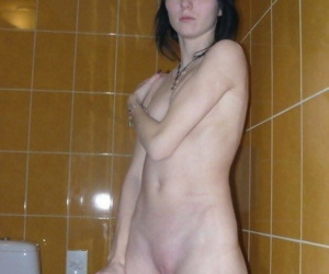 Inconsolable goth comprehensive posing naked in the bath - part 2799