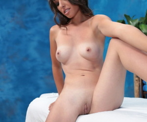 Cute brunette sandy is seduced and fucked hard by her massage therapist - part 4940