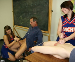 Cum and see cheerleaders do it best pocahontas and dakota charm - part 406