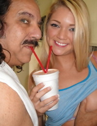 Dirty daddy feeds this hot teen treats and gets an oldman fuck in return