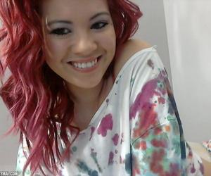 Redhead Japanese non-professional Sydney Mai casts frying looks onwards getting defoliate