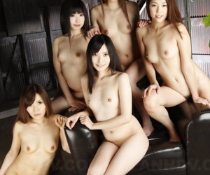 Handful for Japanese girls obtain unreservedly naked within reach hammer away same time