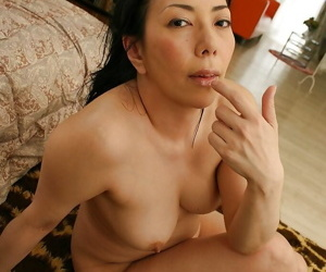 Ill-tempered asian full-grown lass everywhere prudish twat Kimiko Yasue posing nude