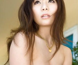 Sexy asian coed Aya Hirai stripping wanting her apparel and underclothes