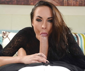 Gorgeous milf Chloe Amour is swallowing this juicy sloppy dick