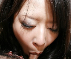 Lustful asian MILF gives a nooky and gets her gradual twat boned-up