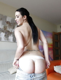 Euro beauty Nicole Wild exposing and fondling large all natural tits