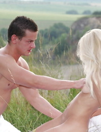 Gorgeous teen Victoria Puppy has sweet time with her bf at the nature