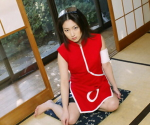 Downhearted asian babe take musty curves Saeki Mai banter will not hear of hairy cunt