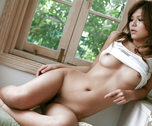 Remarkable asian babe with pocket-sized arse discovery their way jugs plus hairy cunt