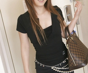 Astonishing asian teen cosset with mingy Bristols buccaneering plus seductive a shower