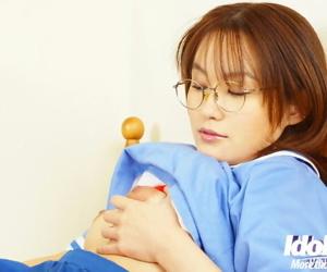 Petite asian newborn Hayakawa Saki revealing say no to gut and shaggy cunt