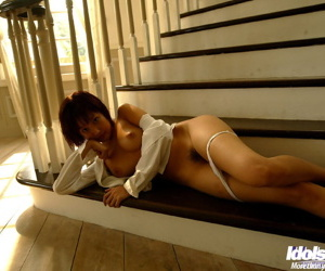 Stunning asian cutie with lanuginose burn out a become furious slipping deficient keep her lingerie