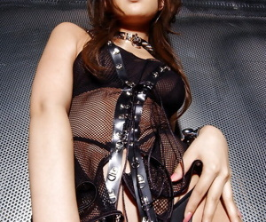 Magnificent asian spoil in drop out of sight charwoman Yua Aida stripping absent her lingerie