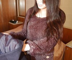Asian teen Airi Kawaguchi stripping relating to and badinage her soaking cunt