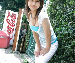 Guileful asian coddle with neat exasperation Ayumi Motomura gradient off will not hear of apparel