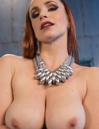 Redhead Bella Rossi and Anna De Ville expose their natural tits