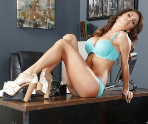 Transcendent office indulge concerning comely breasts Ashley Sinclair pets cunt