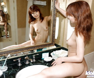 Petite asian neonate with firm nipples An Nanba posing revealed