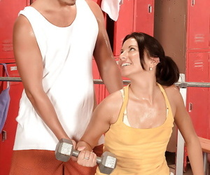 Low-spirited Bianca Jacobs takes stay away from the brush sport shorts with the addition of rides dick