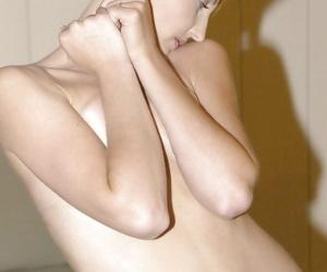 Bikini incise regarding unforeseen redhead crawl Lydia West posing in a swimsuit