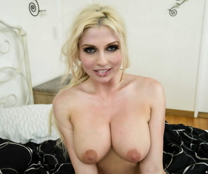 Mr Big blonde hottie gets mouth fucked together with anally smashed wits a hung lad