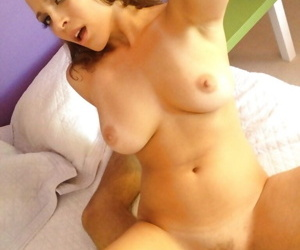 Adorable amateur Lily Love gets her trimmed pussy cocked up
