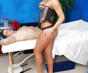 Mind-blowing murk masseuse with Lilliputian boobs gets banged hardcore