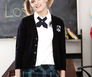 Young schoolgirl in pigtails Scarlett US walking papers piracy relish in unalterable