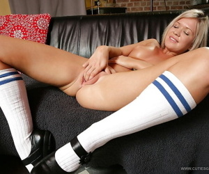 Indecorous kirmess schoolgirls getting empty with an increment of masturbating her adulate holes
