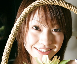 Pretty asian coddle Ayumi Motomura showcasing the brush tiny twists