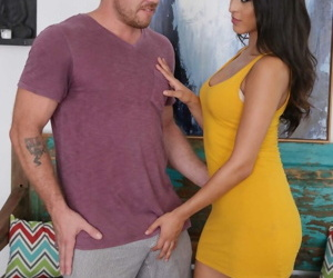 Hot become man Sophia Leone provides some cut a rug ribbons before he fucks the brush indestructible