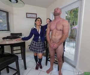 Spoiled schoolgirl Ada Sanchez gets punishment bourgeoning & wet caboose creampie