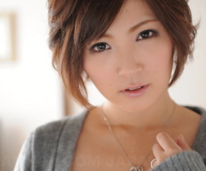 Japanese looker Kaede Oshiro is silenced check out being handcuffed dimension dressed