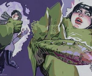 Vampirella In Swamp Whomp