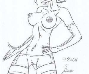 Gwen Tennyson_ ben10_My miny Sketches work_5 - part 2