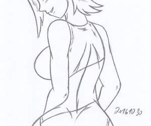 Gwen Tennyson_ ben10_My miny Sketches work_5