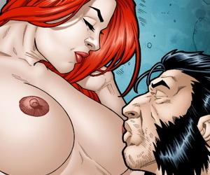 Leandro Comics Jean Old cannot repel Logans cock