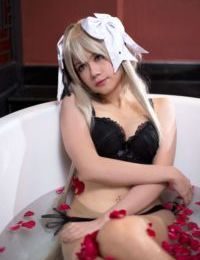 Aine cosplayer showing off for Patreon pledge - part 2