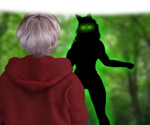Little Red Striding Spandex hood & The Big Tiddy Wolf