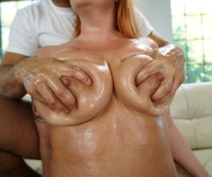 Redhead granny Tammy Jean chunky tits caper back to front cowgirl anal bang